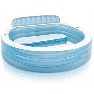 Opblaasbaar zwembad met bankje
