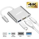 A-Konic USB-C Hub, 3 in 1 Adapter USB-C naar HDMI