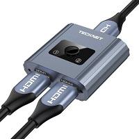 Tecknet tweerichtings HDMI Splitter switch 1-in-2